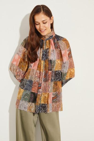 Seiden-Bluse mit Print Multi