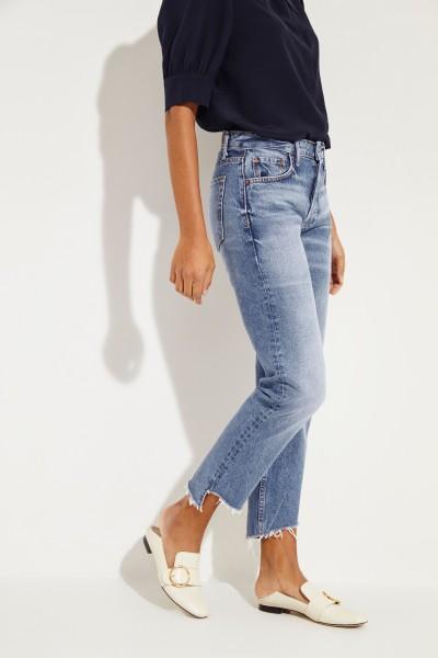 Jeans 'Helena' mit ausgestelltem Saum Blau