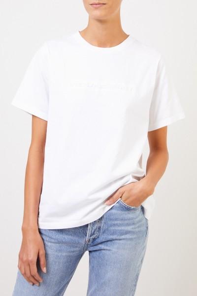 Stella McCartney T-Shirt mit Logo-Schriftzug Weiß