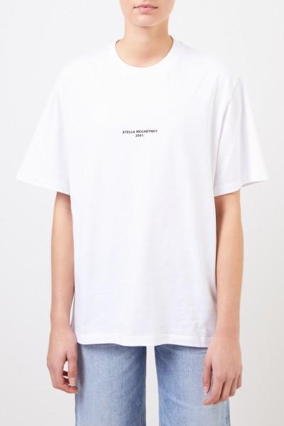 Stella McCartney T-Shirt with Logo-Print White