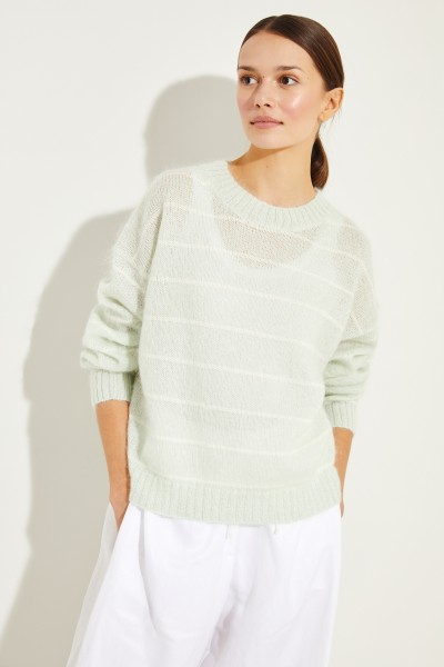 Gestreifter Pullover 'Kassidy' Grün