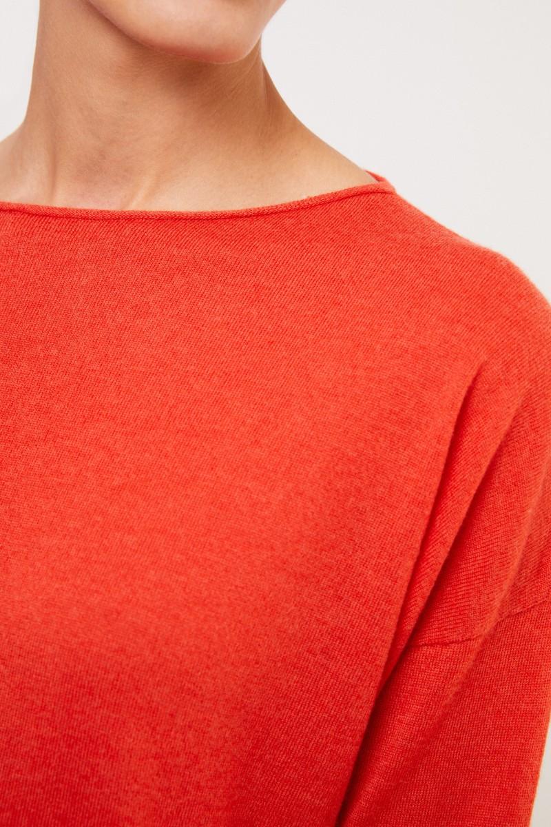 Iris von Arnim Feiner Cashmere-Pullover 'Laniv' Granat