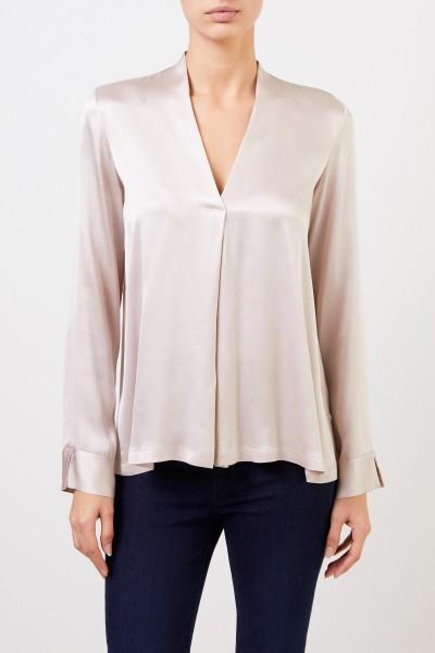 Her Shirt Seiden-Bluse 'Bailey' mit V-Neck Champagner