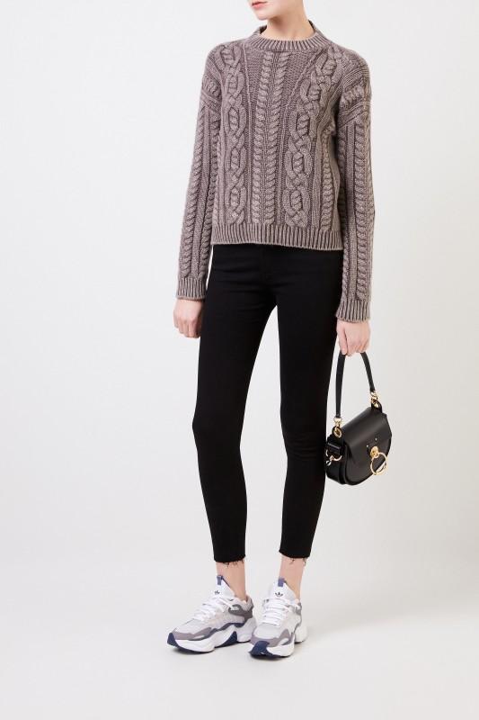 AG Jeans High-Rise Skinny Ankle 'The Farrah' Schwarz