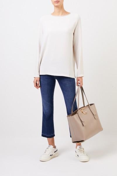 Chloé Mittelgroßer Shopper mit Reißverschluss Motty Grey