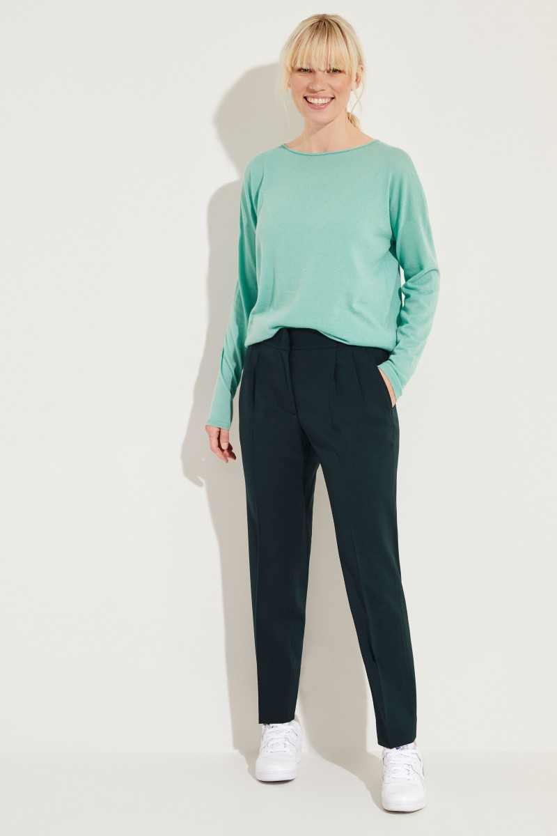 Cashmere-Pullover 'Lana' Grün