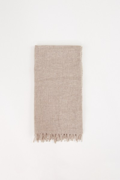 Structured scarf in taupe melange