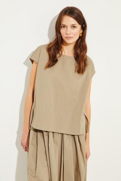 Baumwoll-Shirt Oliv