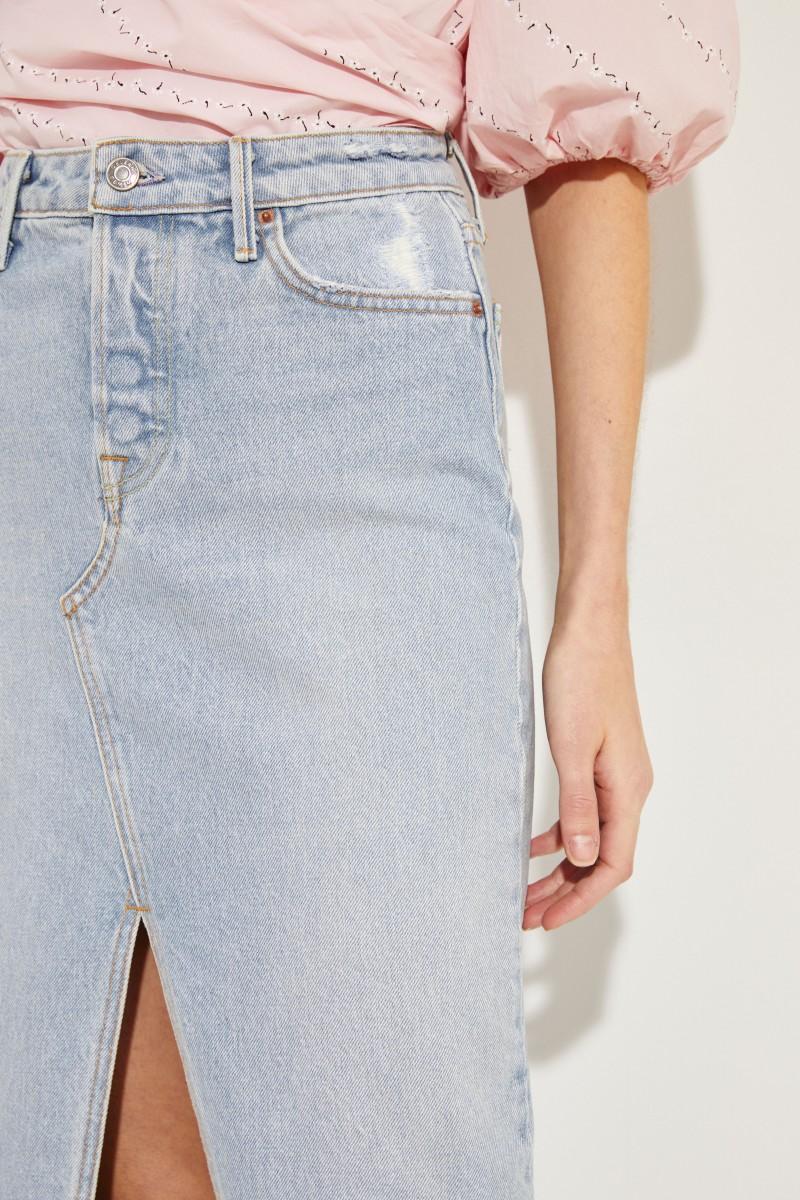 Jeans-Rock 'Isla' mit Schlitz Blau