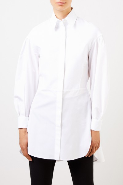 Etro Long cotton blouse with structure detail White