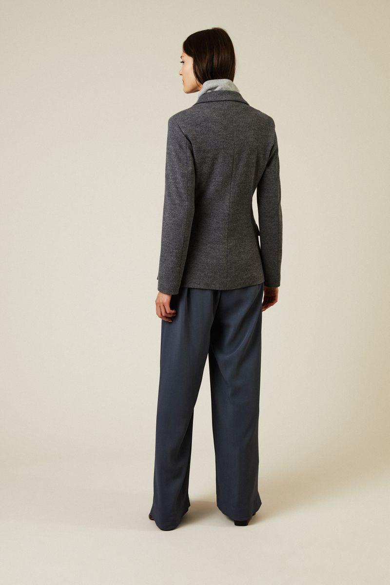 Taillierter Wollblazer Anthrazit