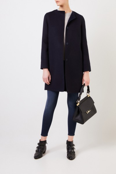 Manzoni 24 Wool-cashmere coat Navy Blue