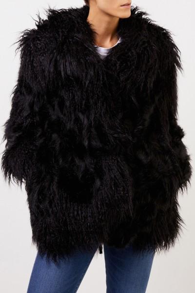 Stella McCartney Longhair Faux For Jacket Black