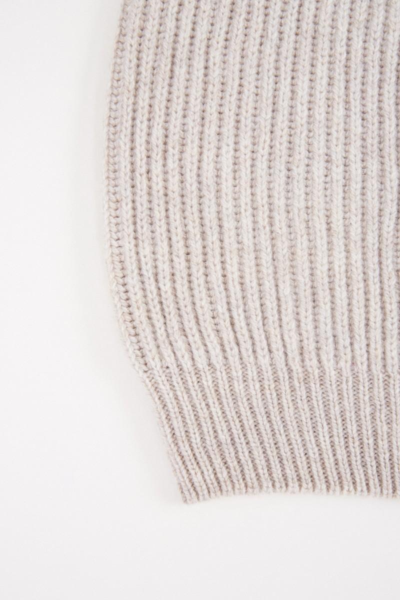 Fabiana Filippi Woll-Seiden Strickmütze Beige