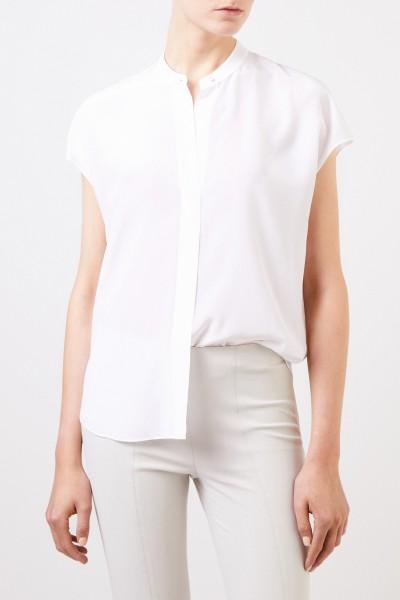 Vince Seiden-Bluse Weiß