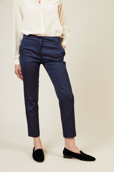Hose mit Muster Blau