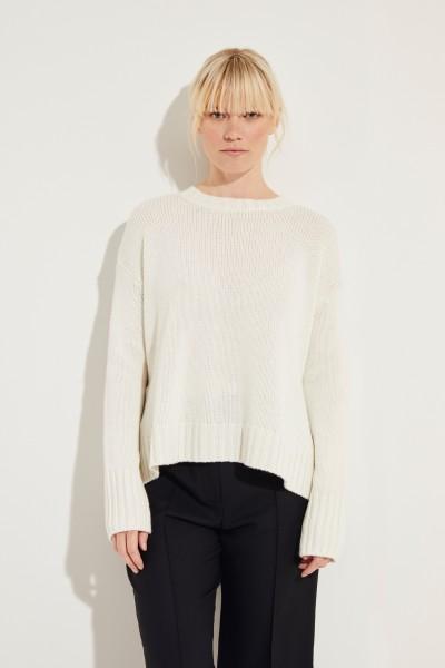 Oversize Cashmere-Pullover 'Chrissy' Weiß