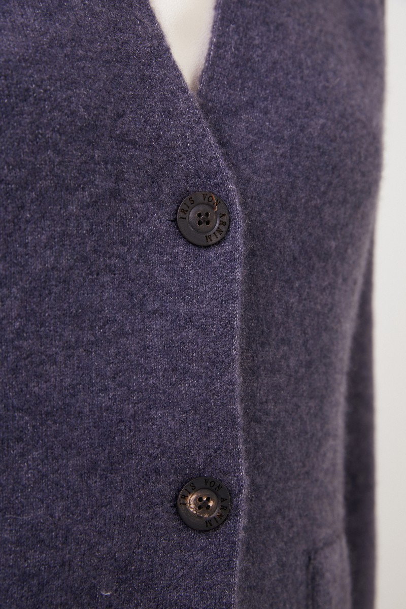 Doubleface Cashmere-Blazer 'Pacita' Blau