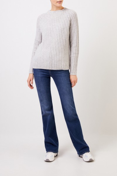 Allude Woll-Cashmere-Pullover Grau