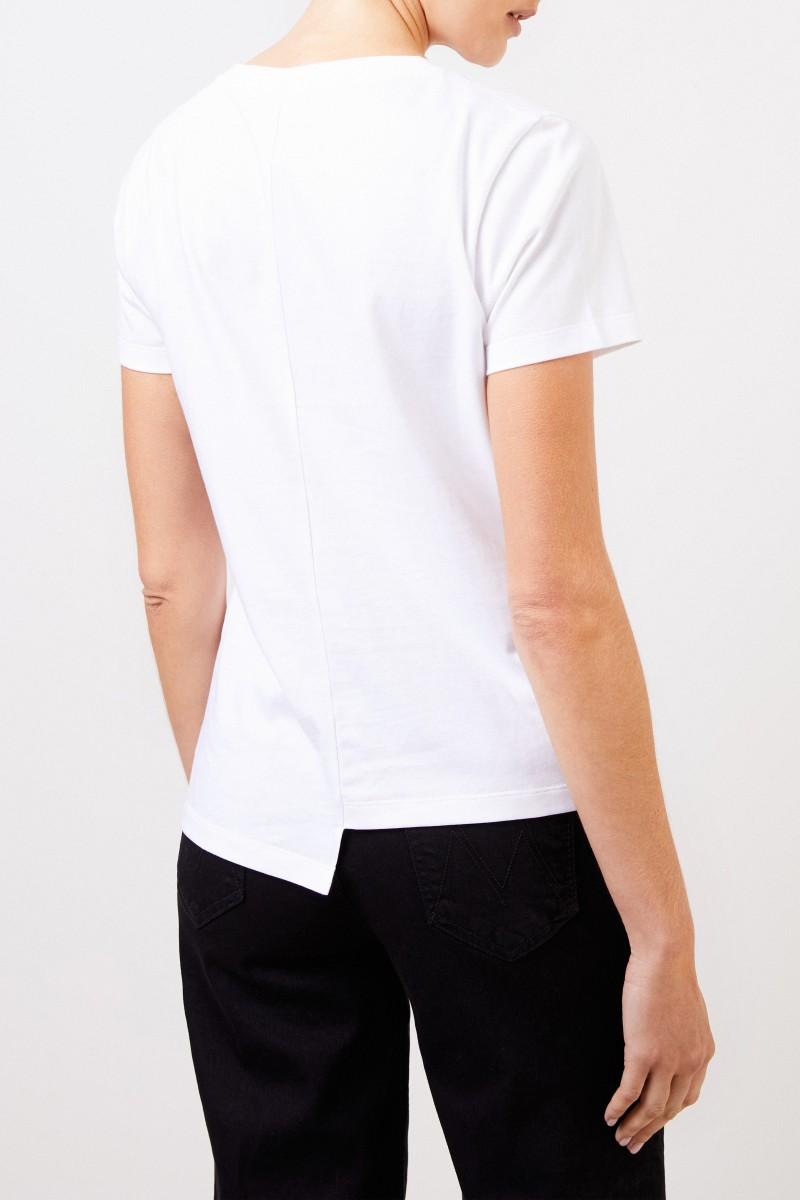 Loewe T-Shirt mit frontaler Logostickerei Weiß
