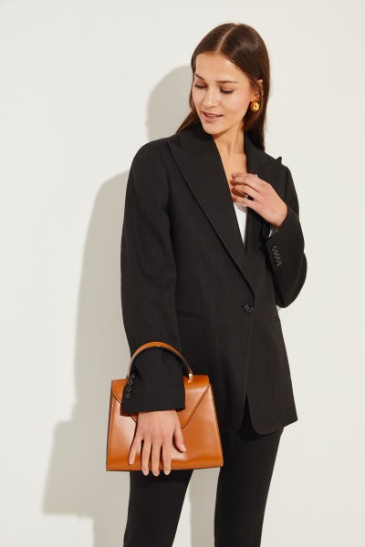 Linen-Blazer 'New Steed' Black