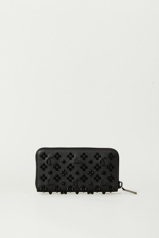 Portemonnaie 'Panettone' mit Nietendetails Schwarz