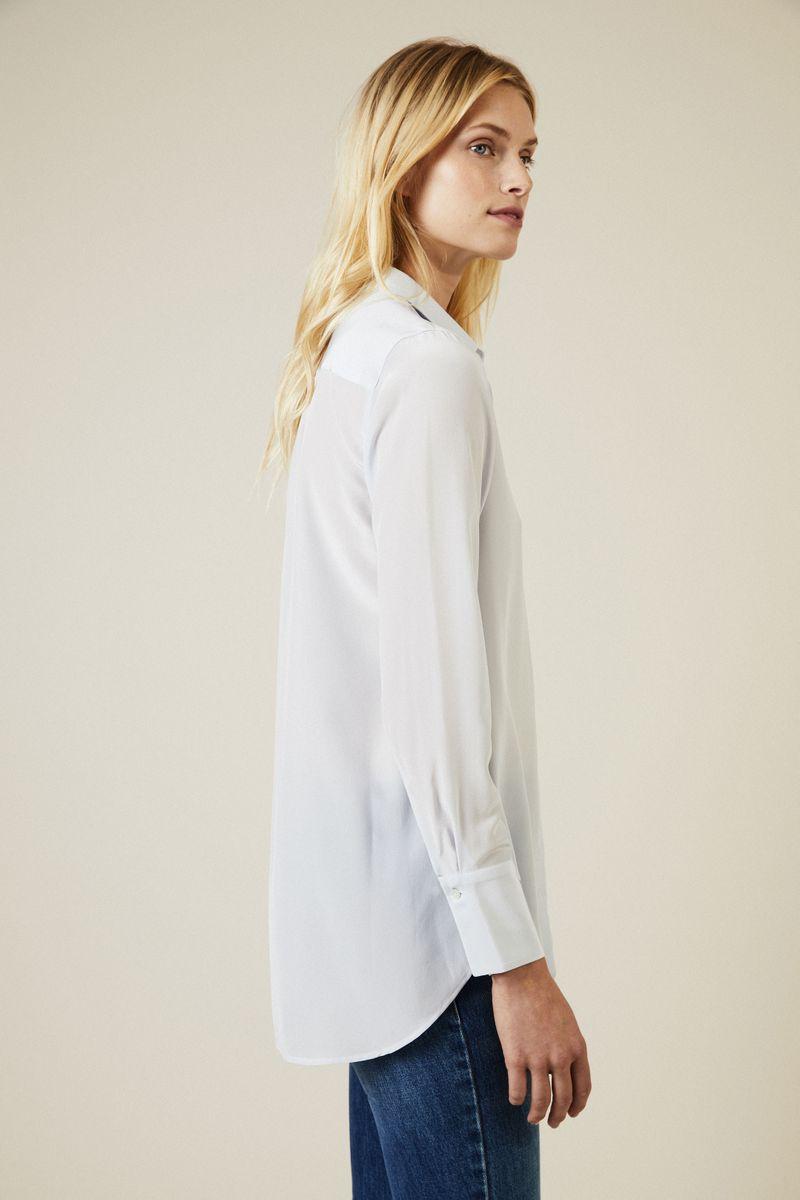 Seiden-Bluse Hellblau