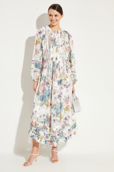 Zweiteiliges Kleid mit floralem Print Mult