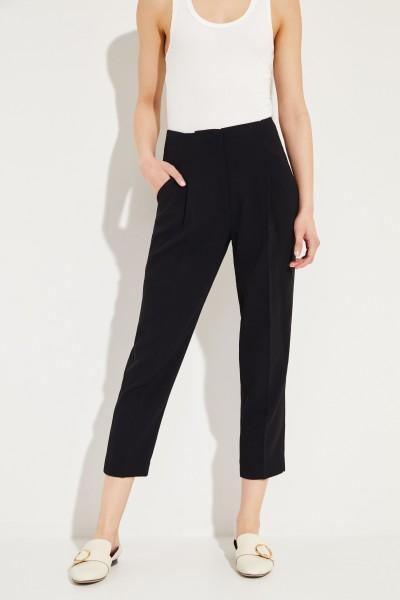 Hose mit Faltendetails Schwarz