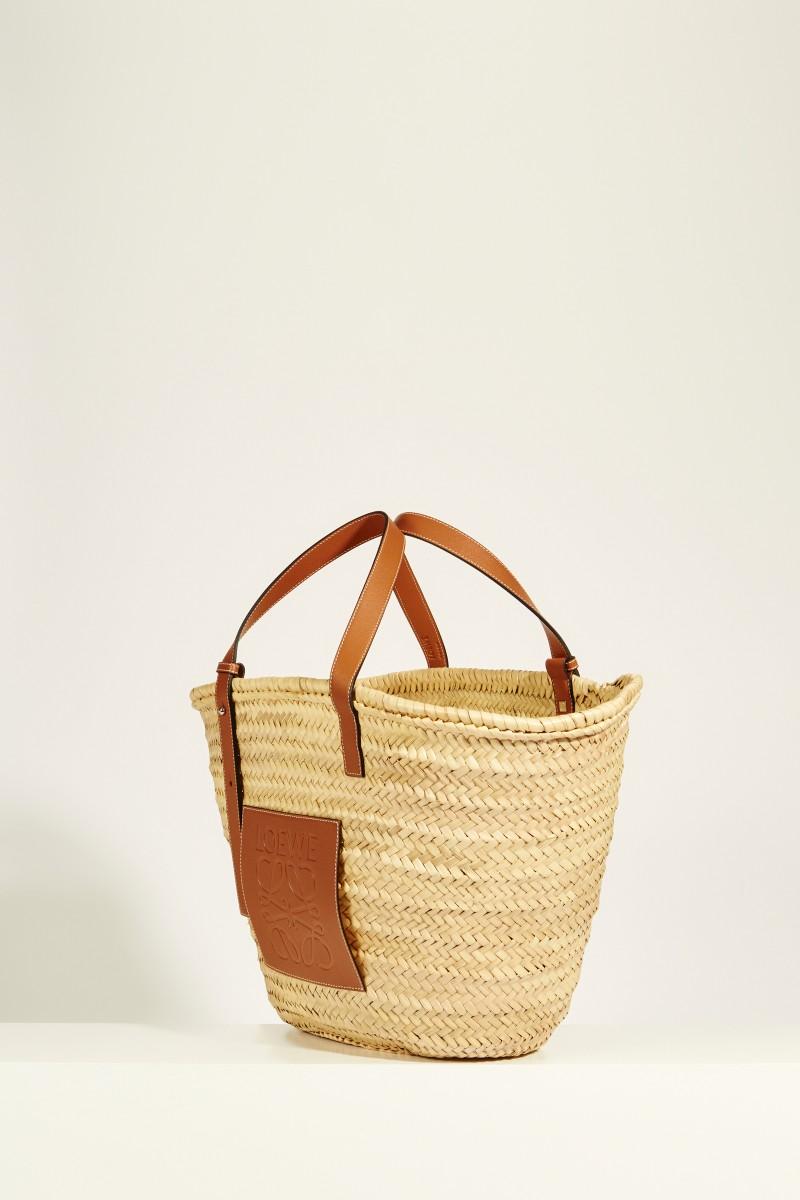 Korb 'Basket Bag Large' Natural/Tan