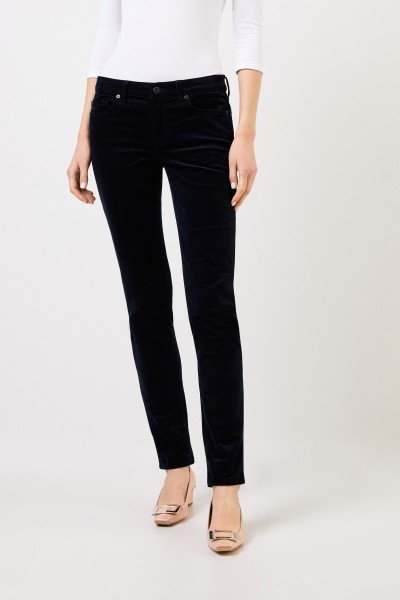 7 for all mankind Cord-Jeans 'Pyper' Dunkelblau