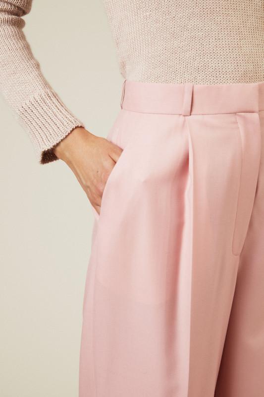 Woll-Hose 'Elin Pant' Rosé
