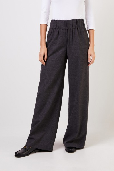 Aspesi Wool trousers with wide leg Anthracite