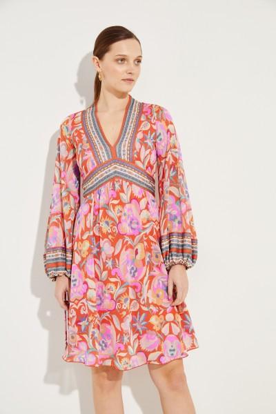 Kleid mit Print Rot/Multi