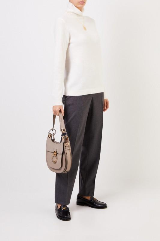 Allude Cashmere-Pullover mit Turtleneck Crème