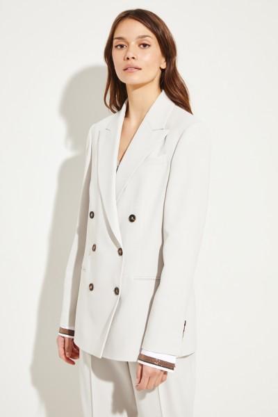 Woll-Blazer mit Blusendetail Grau
