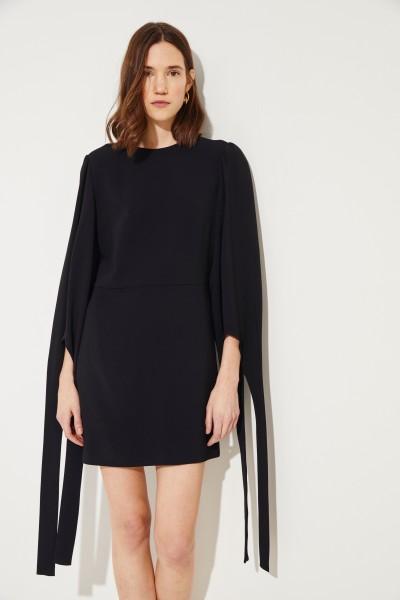 Kleid mit Bindedetails Schwarz