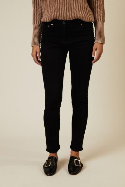 Jeans mit Nietenapplikation Schwarz