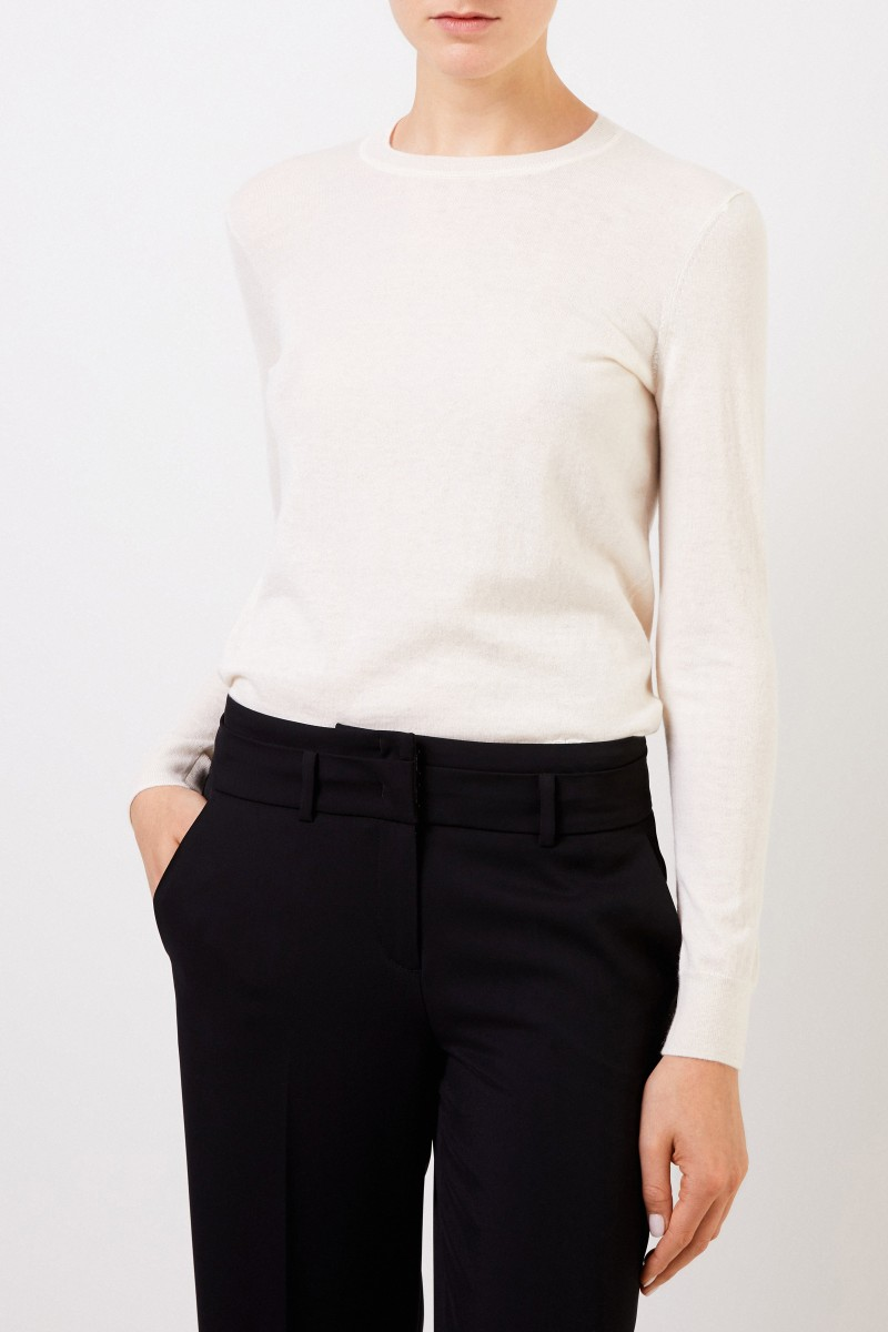 Tory Burch Cashmere-Pullover 'Iberia' mit Knopfdetails Crème