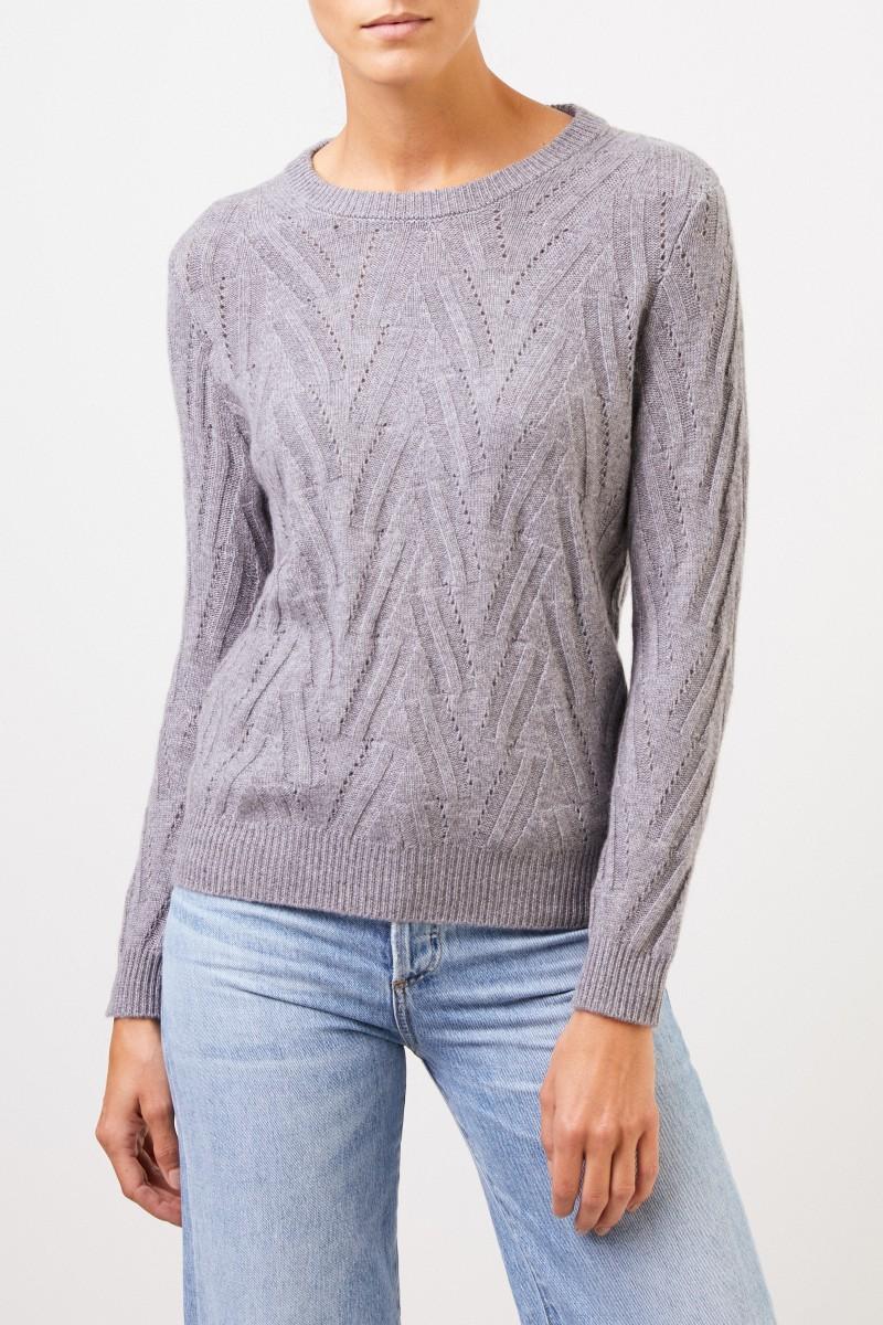 Uzwei Cashmere-Pullover mit Strickmuster Grau