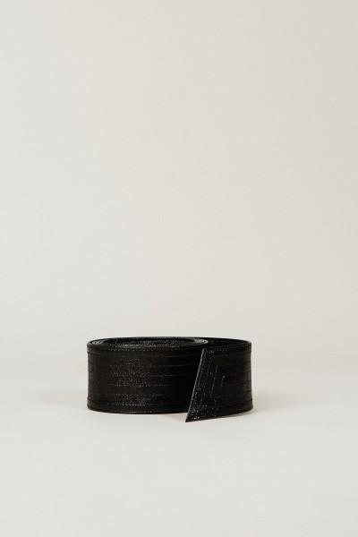 Breiter Ledergürtel Schwarz