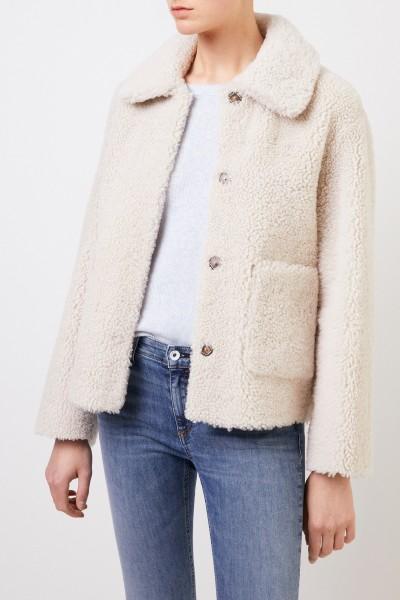 Benedetta Novi Reversible lambskin jacket 'Gaia' Cream