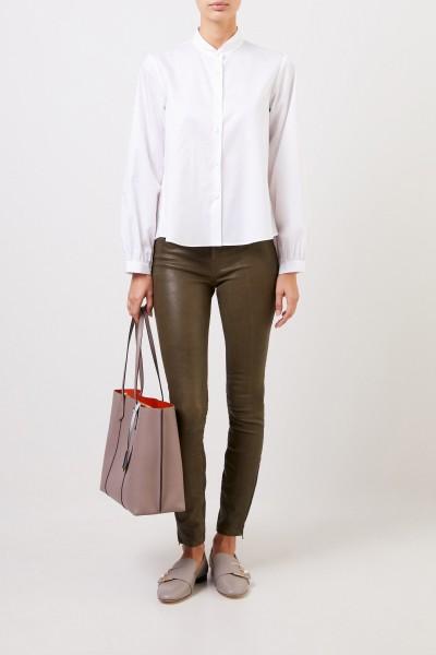 """Cotton blouse """"Sylvia"""" in white"""