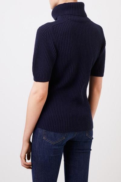 Iris von Arnim Short sleeved cashmere sweater 'Fenja' Blue