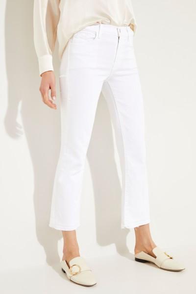Jeans mit ausgestellten Säumen Weiß
