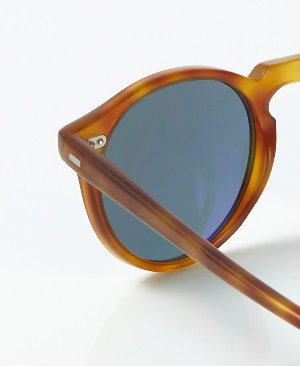 Matte Sonnenbrille 'Gregory' in Horn-Optik Braun