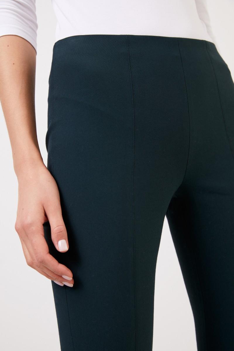 Vince Elastische Hose mit Schlitz Grün