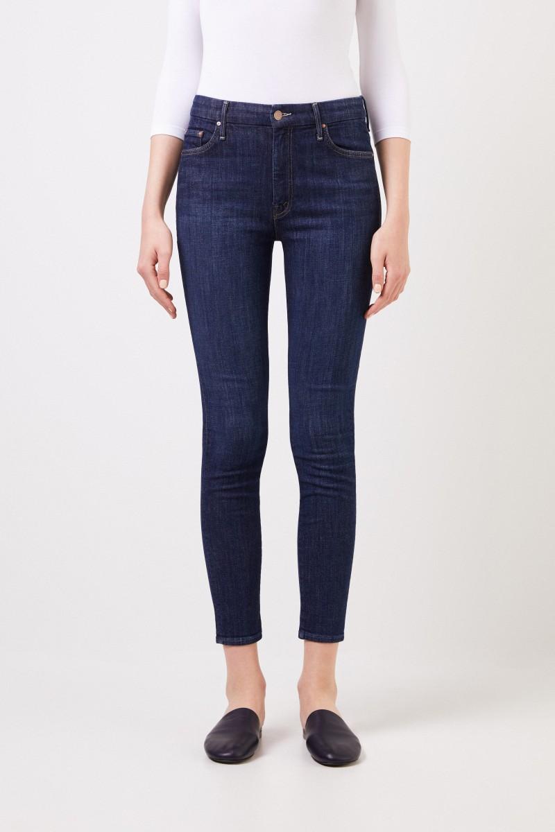 Mother Denim Jeans ' The Swooner Roller' Dunkelblau