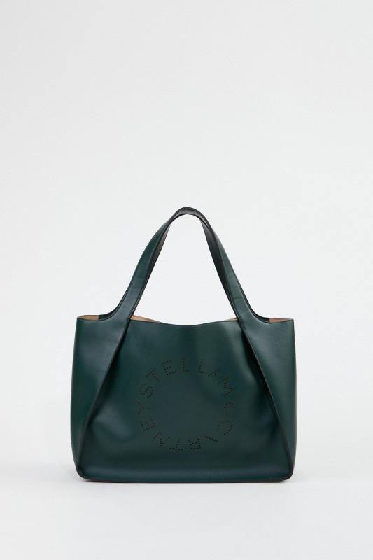 Stella McCartney Handtasche 'Tote Stella Logo' Dunkelgrün