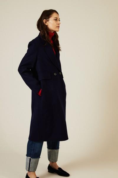 Woll-Mantel Blau